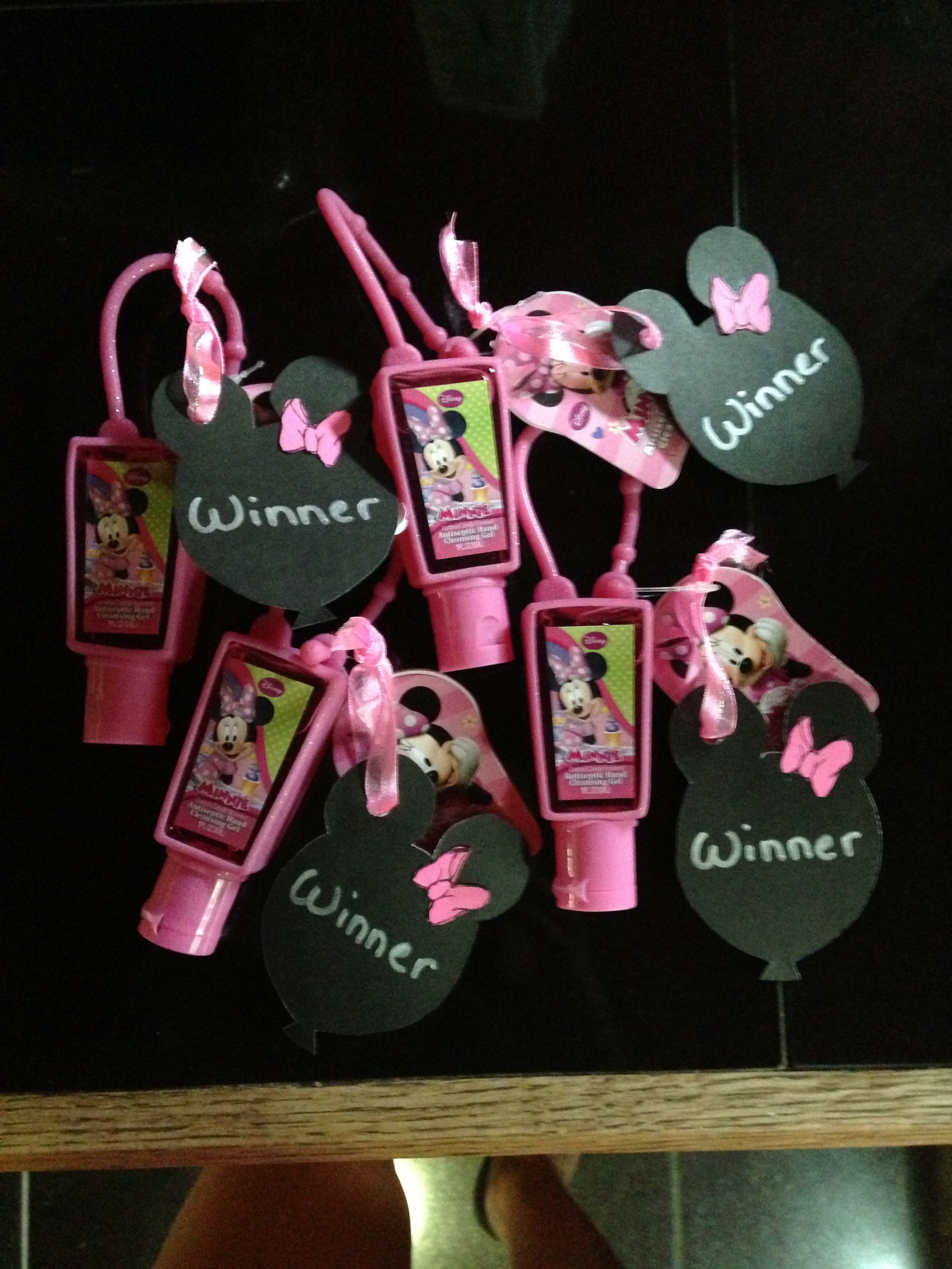 Prizes for my Minnie Mouse baby shower
