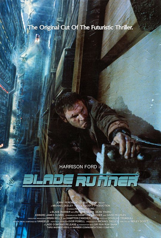 Hello! Movie Poster of the Day No. 13 - Blade Runner Saturday is classic movie posters I've owned day. I used to have this poster from Ridley Scott's 1982 science fiction masterpiece Blade Runner. ...