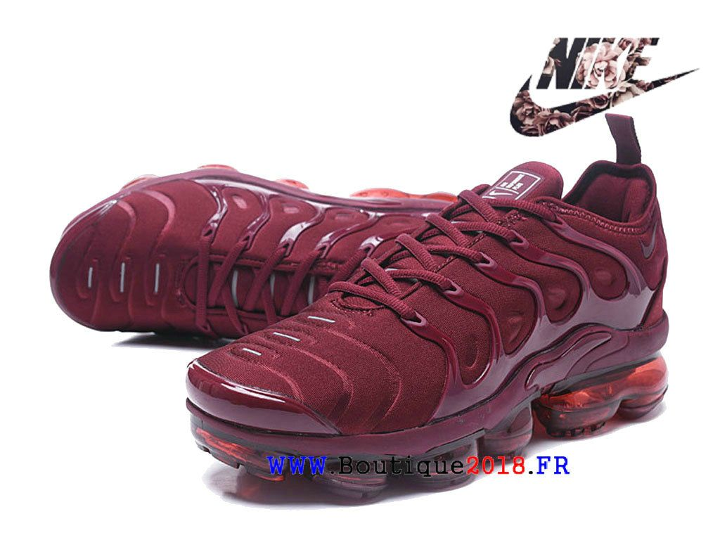 low priced d6b01 cf606 Nike Air VaporMax Plus 2018 - TN Chaussures Pas Cher Price Pour Homme Vin  rouge AO4550-002H