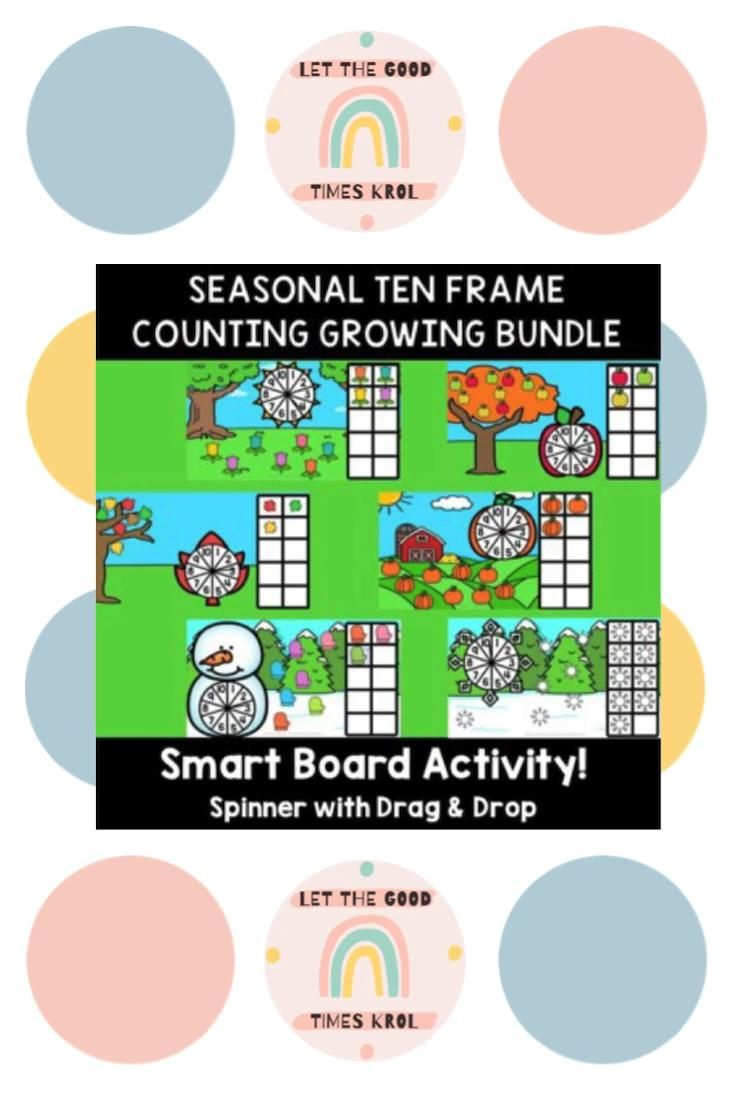 Seasonal 10 Frame Counting With Spinner Growing Bundle For Smart Board Video Math Resources Math Activities Math Lessons [ 1102 x 734 Pixel ]