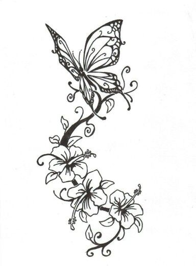 tatoveringer sommerfugle og blomster