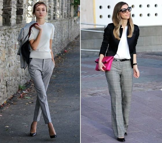 What To Wear With Grey Pants At Work | Womens fashion