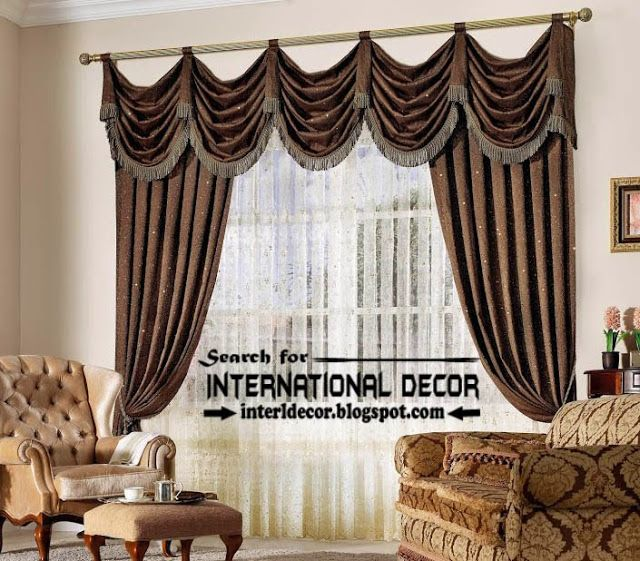Top Trends Living Room Curtain Styles, Colors And Materials, Brown Curtains