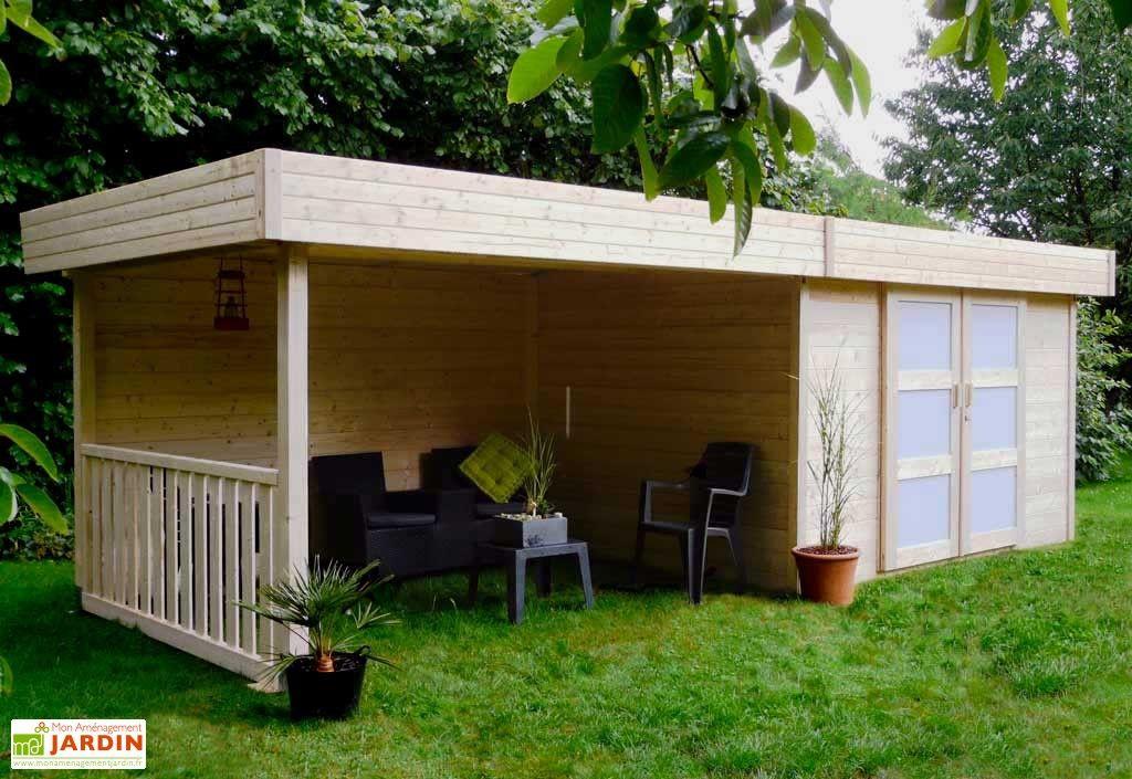 Abri de Jardin Bois Arhus 28mm (656 x 241cm) | Abris de jardin ...