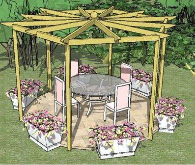 Hexagonal Pergola Plans Pergola Plans Pergola Designs Pergola