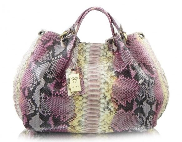 Ghibli Designer Python Anaconda Snakeskin Handbags Italian Pink Bags At Bagmadness 1189