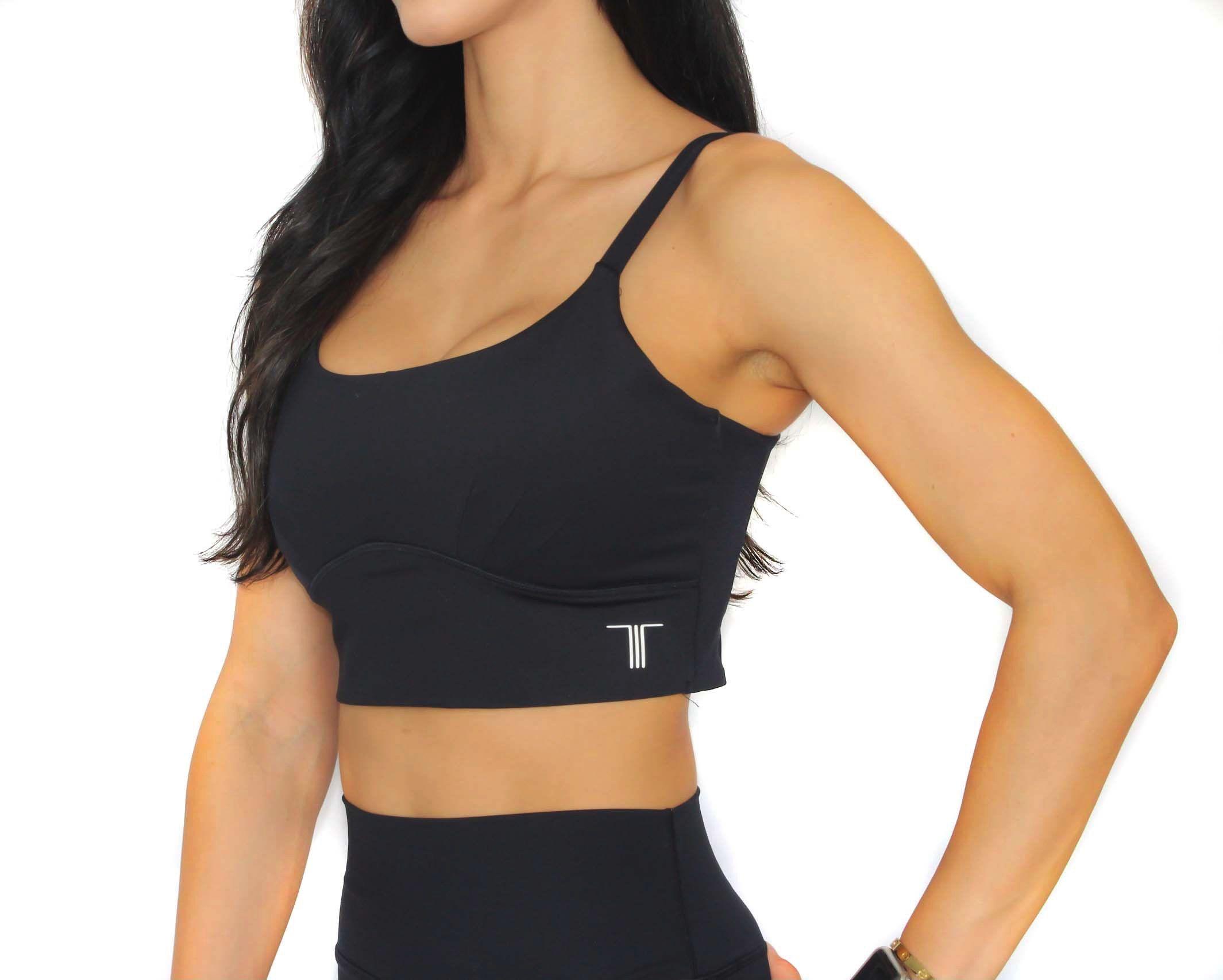 Rhea Sports Bra BLACK Etsy in 2020 Black sports bra