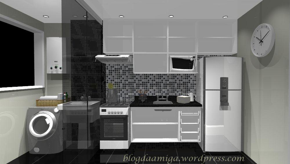 Cozinha pequena apartamento em 2019 cozinha planejada for Modelos de apartamentos pequenos
