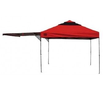 Quik Shade Summit S170 Instant Canopy / Tent with Awning - (Midnight Blue/Gray) - OnlineSports.com