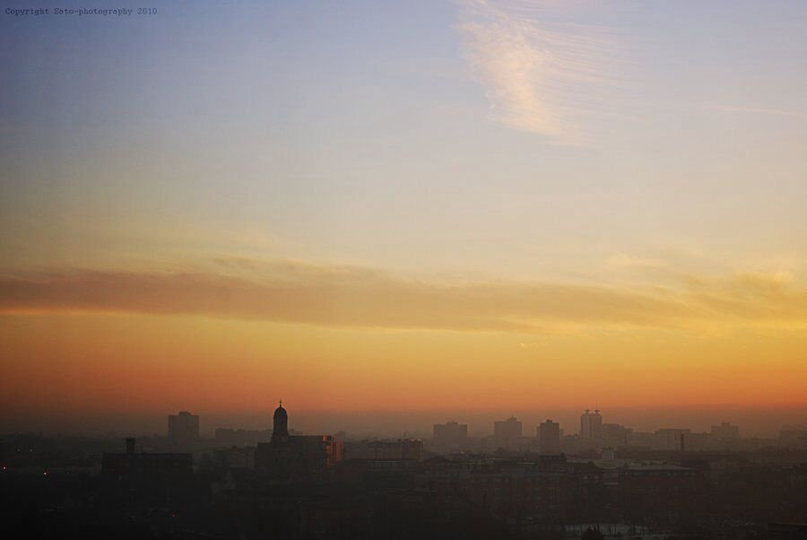 Sunset over Salford