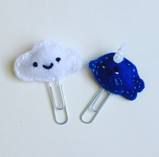 Floating Fox: Mini Post: DIY Felt Paper Clips