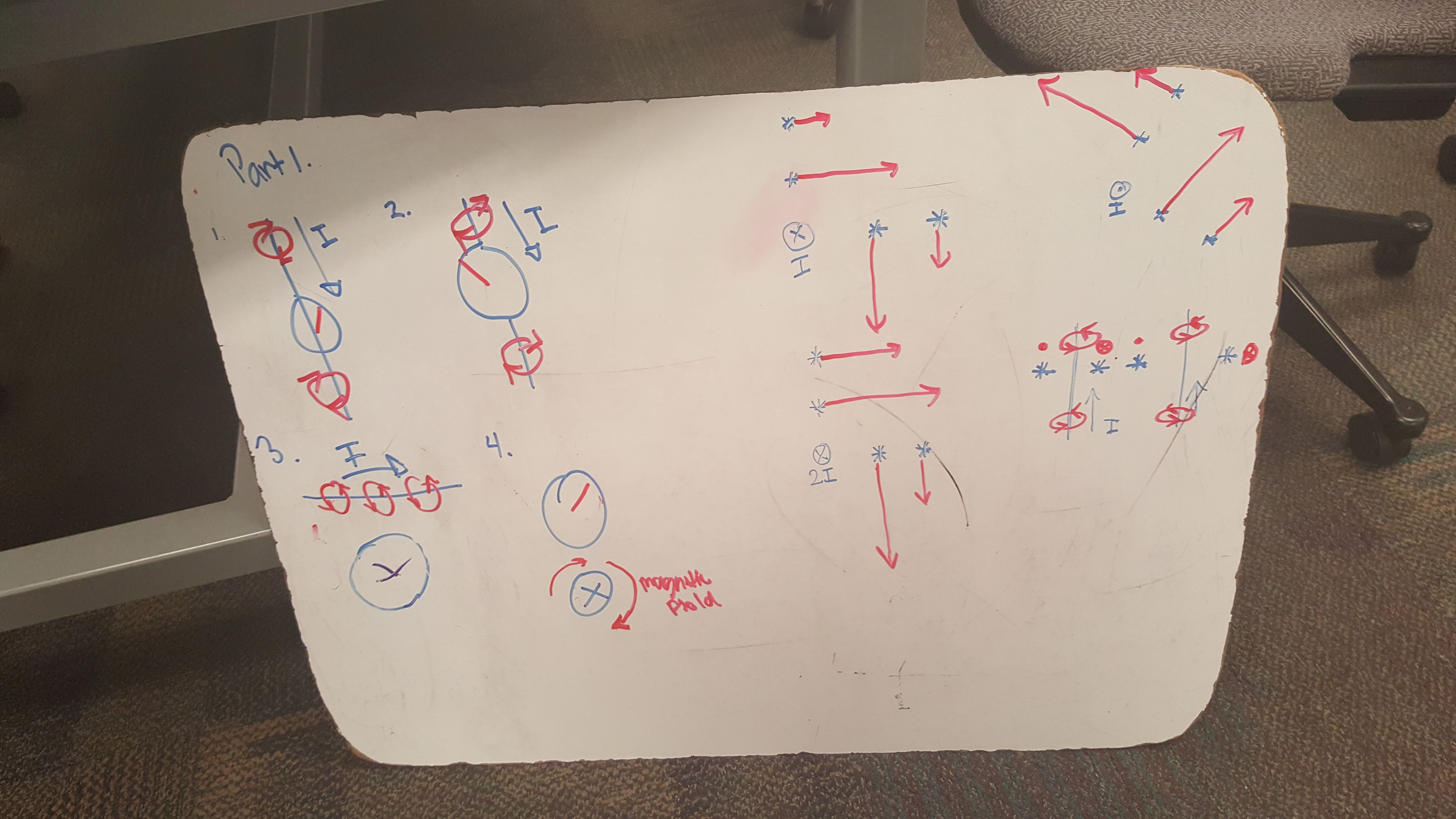 Tuesday: We worked on worksheet 1 and 2 on the magnetic field. We ...