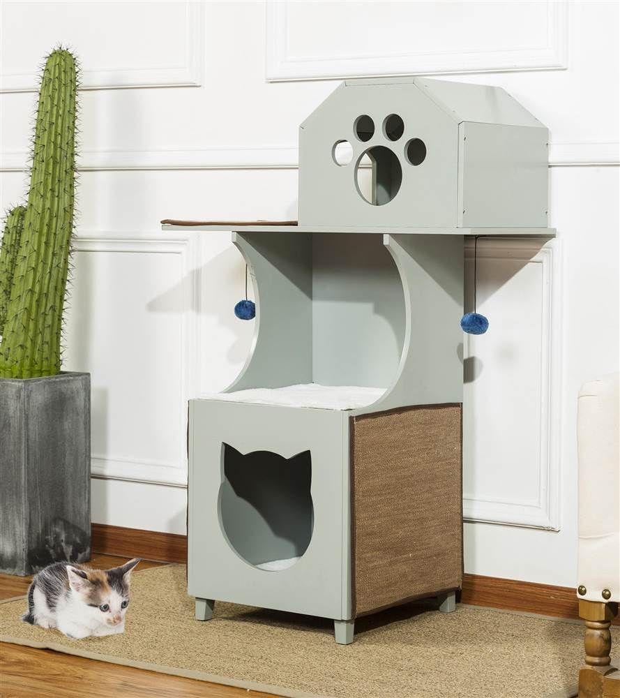 Beste 50 Katzenhäuser Für Klein Bis Groß Tierblog Cat House Wooden Cat House Cat House Diy