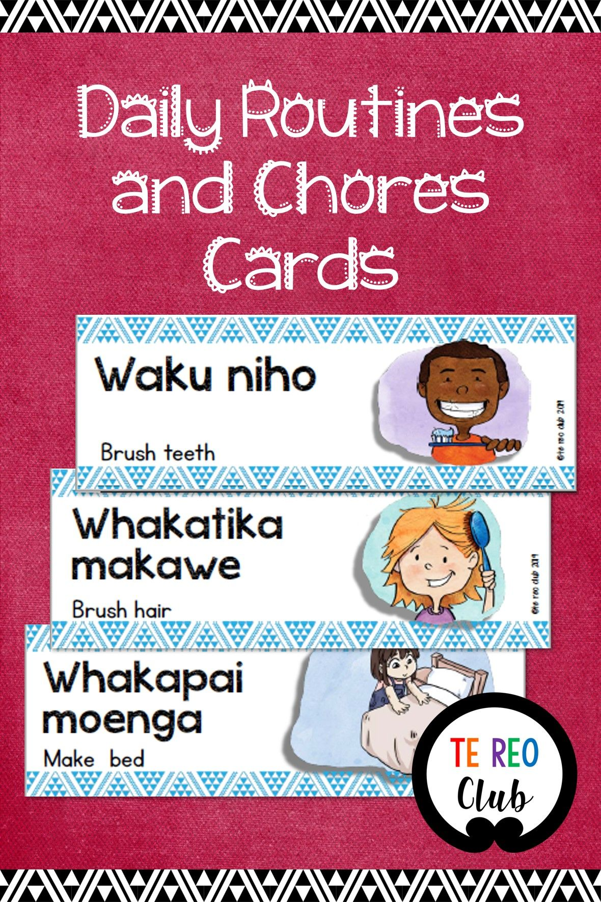 Daily routines and chores cards chore cards chores