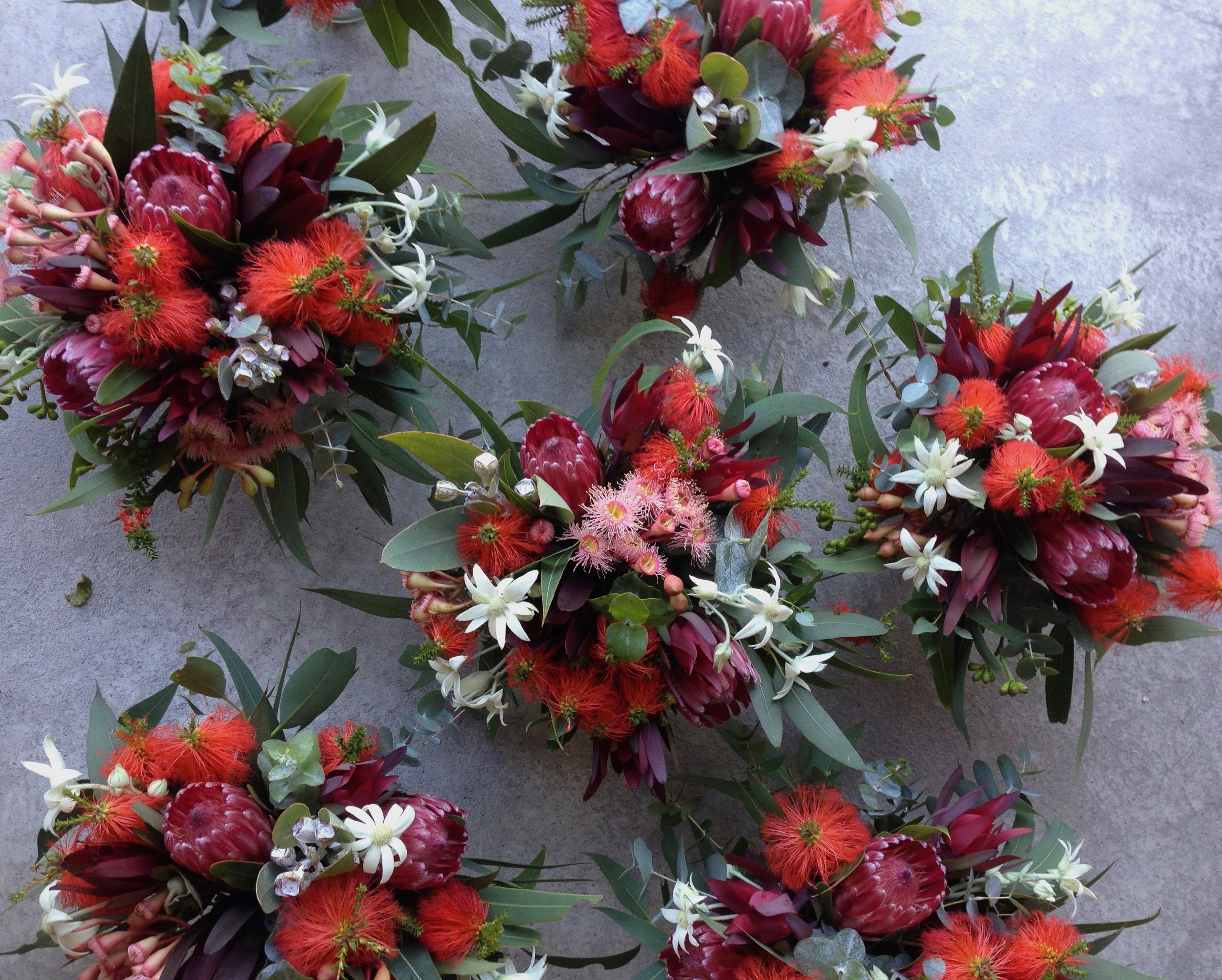 Australian Native Flowers Table arrangements with