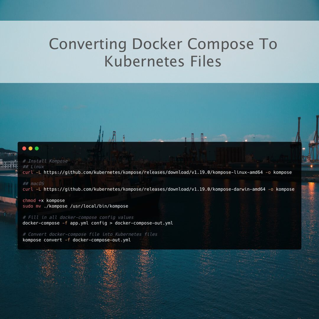 Converting Docker Compose To Kubernetes Files In 2020 Dockers How To Become Deployment