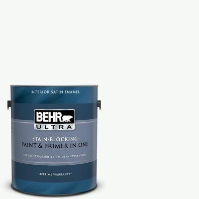 Behr Ultra 1 Gal Home Decorators Collection Hdc Nt 04g Blanca Peak Satin Enamel Interior Paint Primer 775001 Behr Exterior Paint Interior Paint
