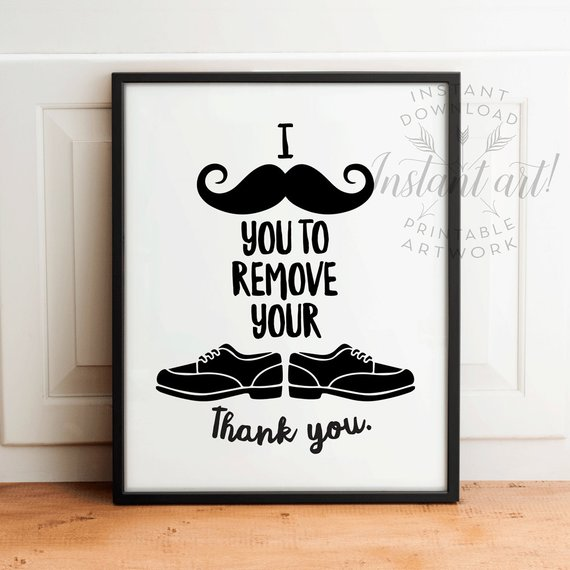 0235db7524a35 Take shoes off sign, PRINTABLE art, Please remove your shoes sign ...