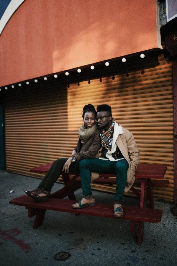 Just say yes to scarves and His & Hers tweed jackets | Image by Marko Marinkovic