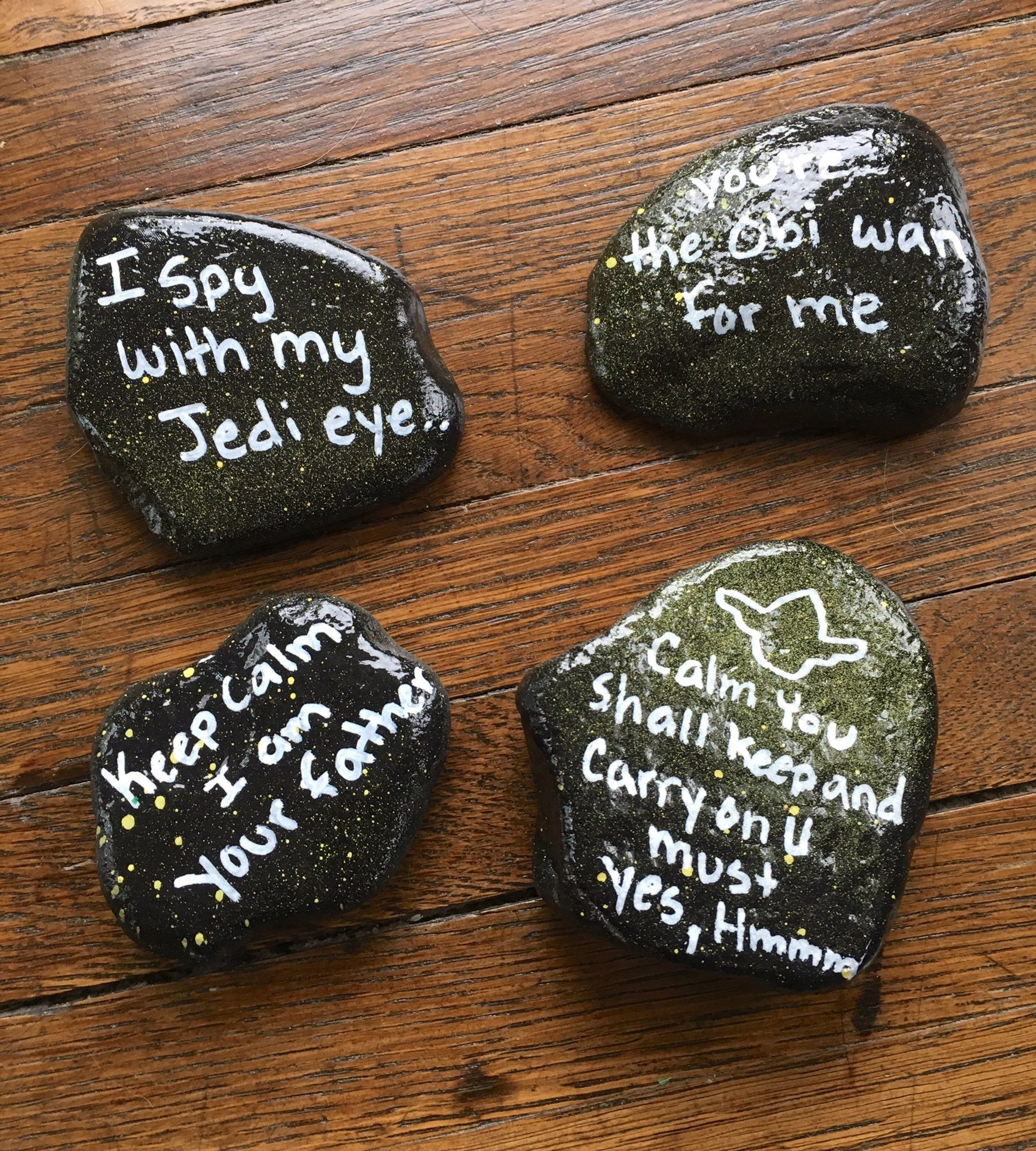 Painted Rock Star Wars May The Fourth Be With You Northeast Ohio Rocks Find Us