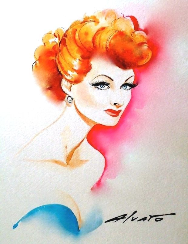 #Ball #illustration  Lucille Ball illustration #lucilleball