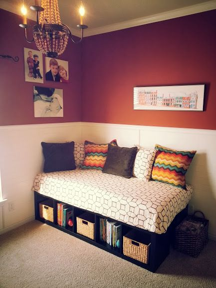 Diy Daybed Ikea Two Expedit Shelving Units 59 99 Each