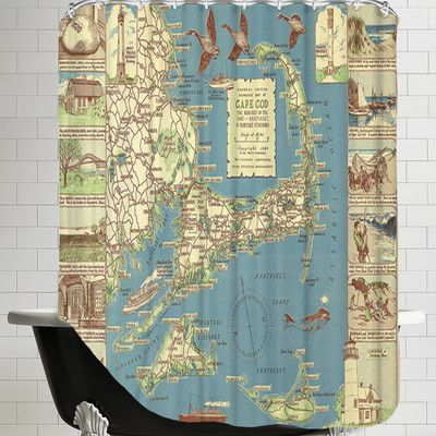 East Urban Home Colonial Craftsman Decorative Map Of Cape Cod