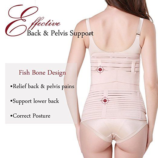 22b988d47c 3 in 1 Postpartum Support - Recovery Belly waist pelvis Belt Shapewear  (Nude) at Amazon Women s Clothing store