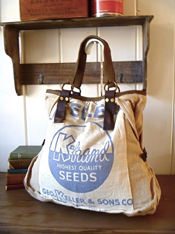Bag Made Out Of A Feedsack Inspiration For Pillows From Cloth Rice Bags
