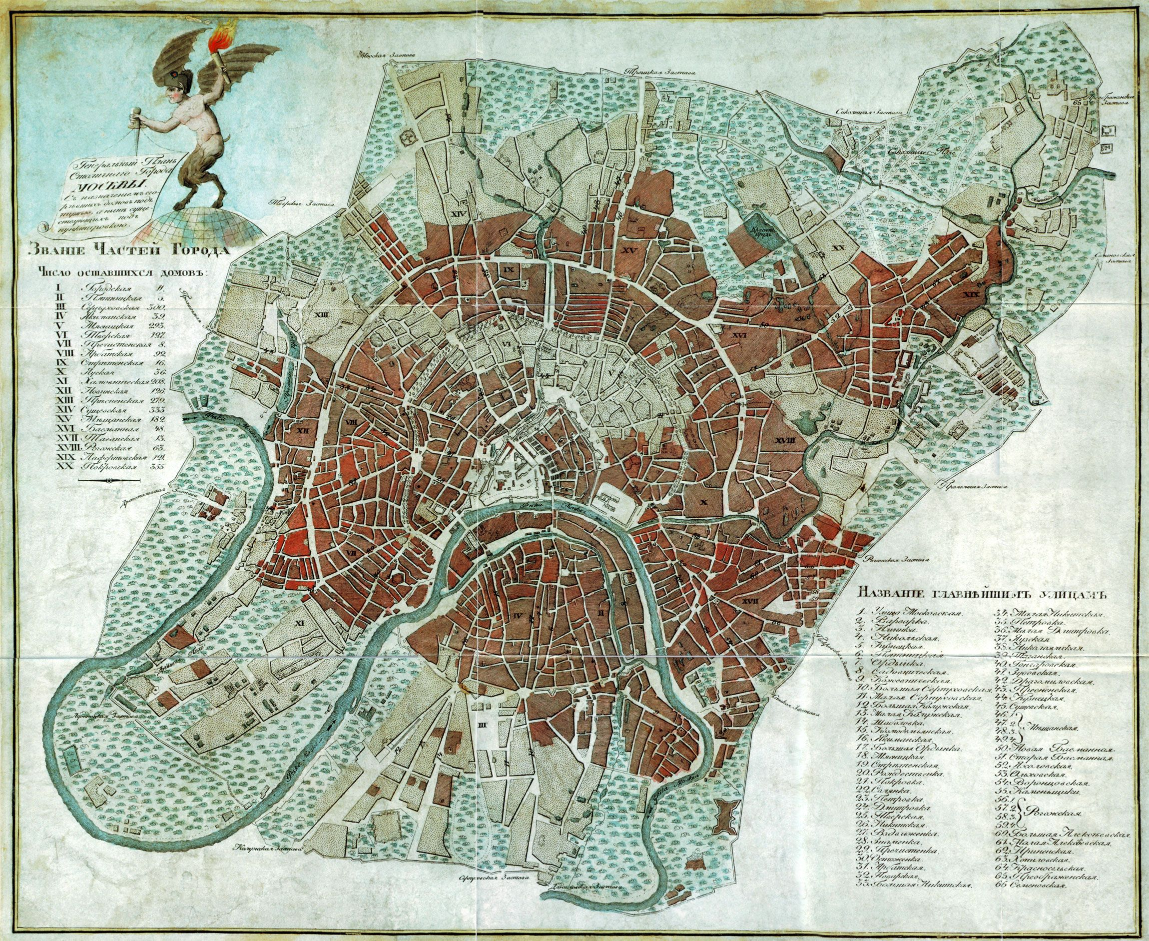 1812 Map of the Great Fire of