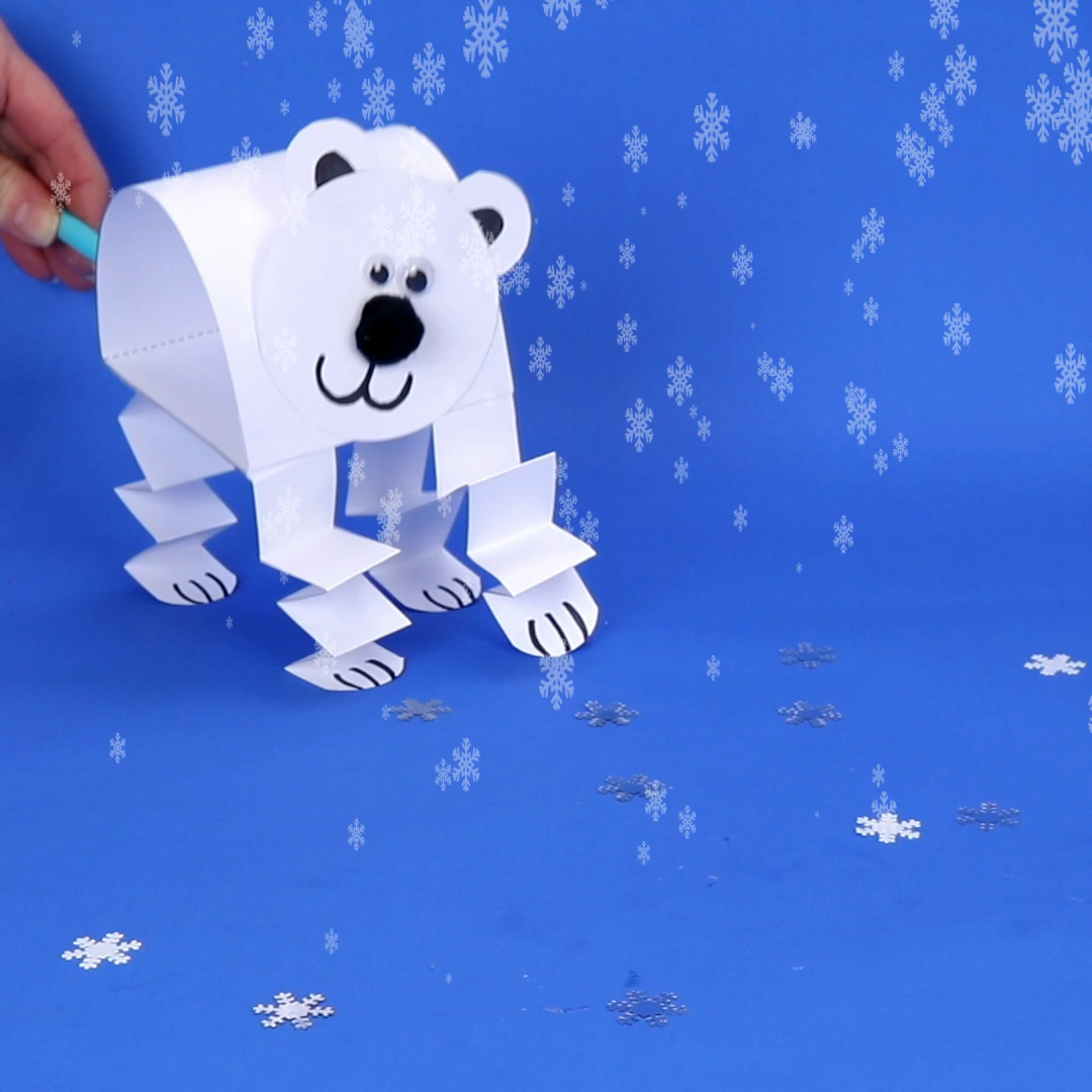 Polar Bear Puppets #craft
