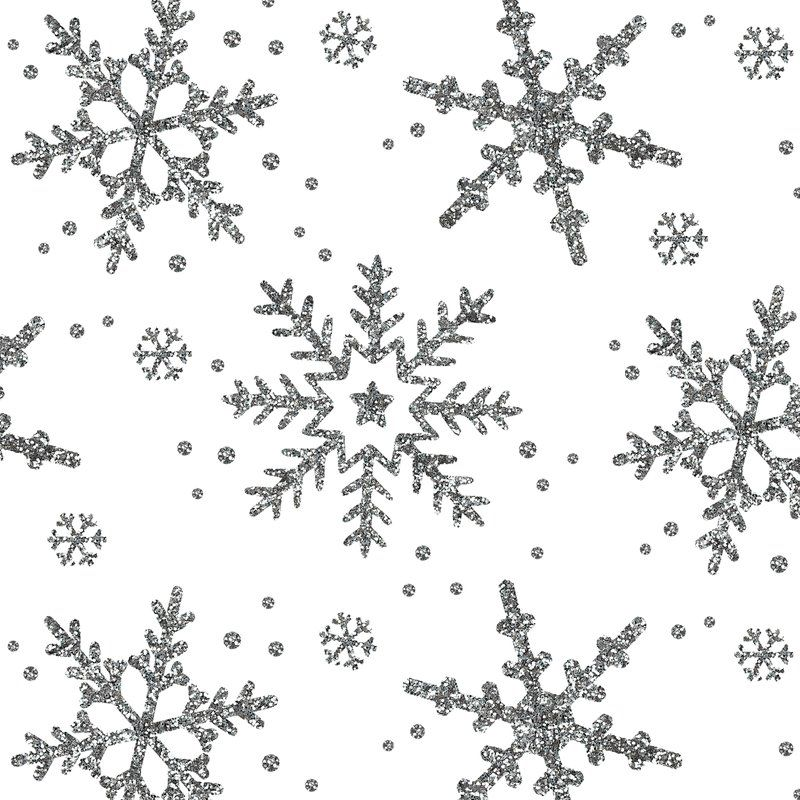 Fabric – Snowflake shimmer on white- Spoonflower