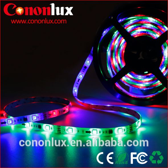 Colored Led Light Strips Extraordinary Dream Color Rgb With Ic Led Strip 30 Ledsmeter Festive Furnishing Inspiration Design
