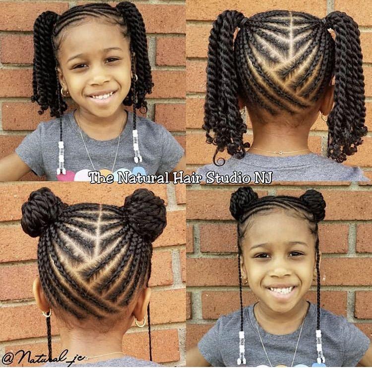 Pin By Curls4lyfe On Kids Braids Lil Girl Hairstyles Girls