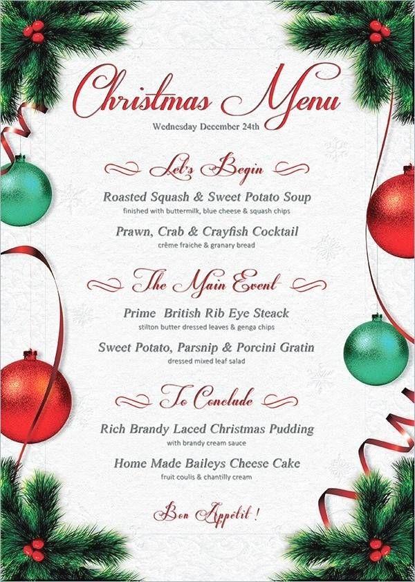 Christmas Dinner Menu Template Christmas Menu Design Christmas Dinner Menu Christmas Menu