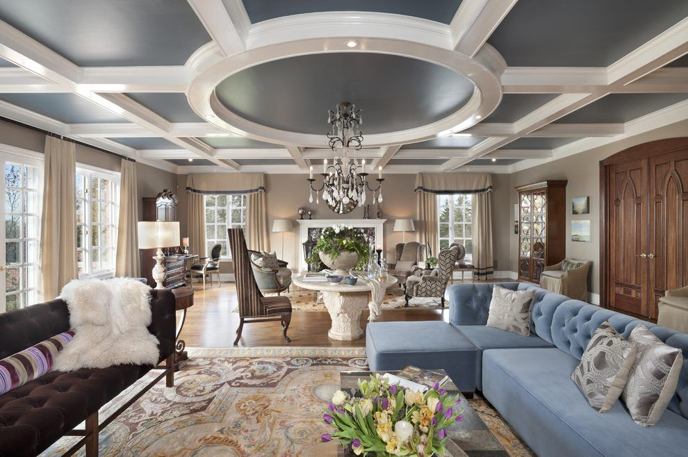 Coffered Ceiling Living Room Living Room Victorian With Walnut Floor Coffered Ceiling Wrought Iron Light Mansion Living Room Mansion Living Coffered Ceiling Design
