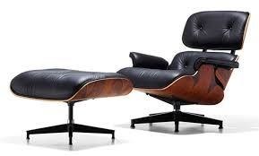 Charles Eames Chaise De Salon Et Ottoman 1955 Design Complet Velout Modernisme Sans Rejeter