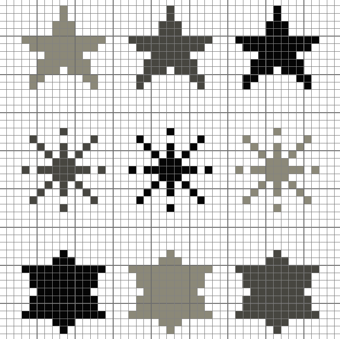 cross stitch free chart download star | Cross-stitch Monochrome ...