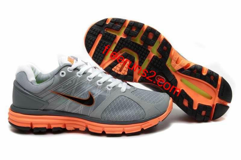 sale retailer 436f9 d6b7f ... order mens nike lunarglide 2 gray orange shoes 07b9b 9191e