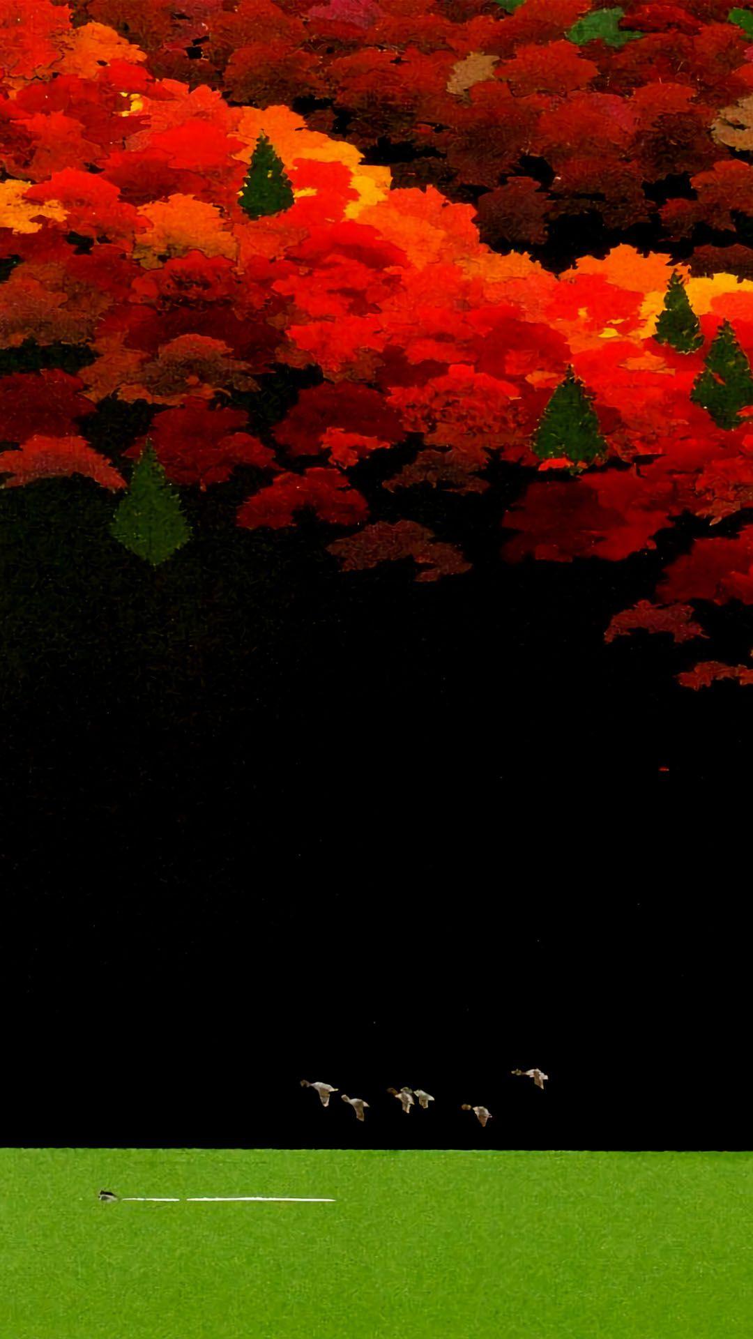 内田正泰 映える緑湖 スマホ用壁紙 1080x19 アートのアイデア 壁紙 影絵