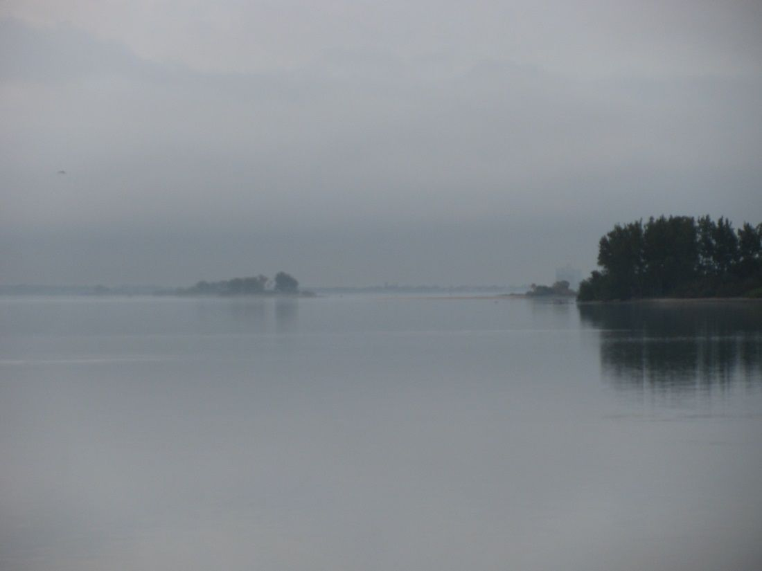 Islands in the morning mist dunedin florida honeymoon island