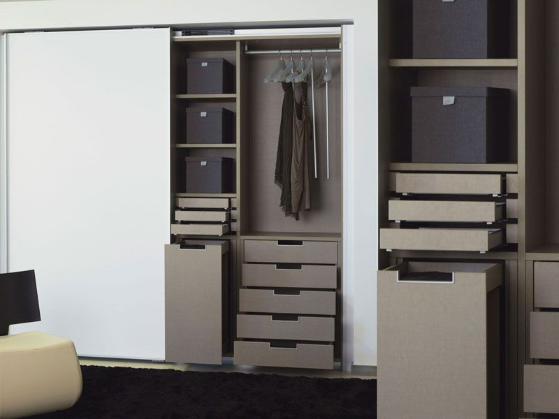 FOC Laminado blanco ártico / Lino Habana textil   Interior   Storage ...