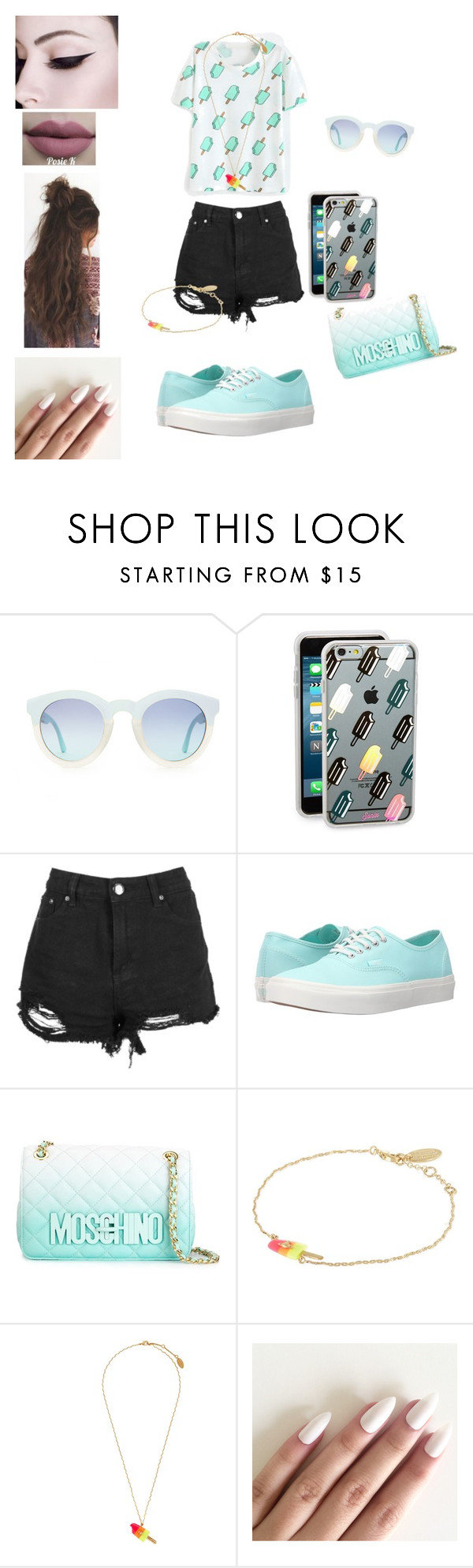 """""""Ice Cream Dream"""" by kissesari on Polyvore featuring Sonix, Vans, Moschino, Vivienne Westwood and Free People"""
