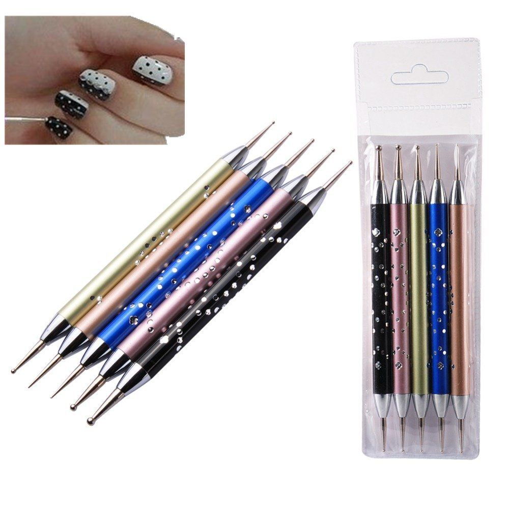 Biutee 5 X 2 Way Dotting Pen Set Nail Art Dotting Tools High-grade ...
