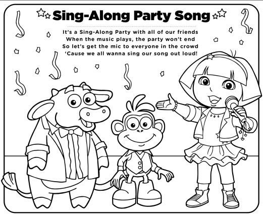 Dora The Explorer Coloring Pages - Nick Jr Coloring Pages - YouTube | 428x521