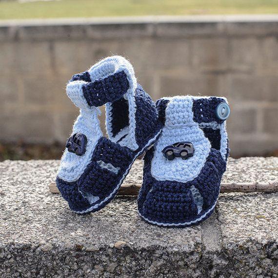 Sandalias de niño de bebé de ganchillo. por DaisyNeedleWorks ...