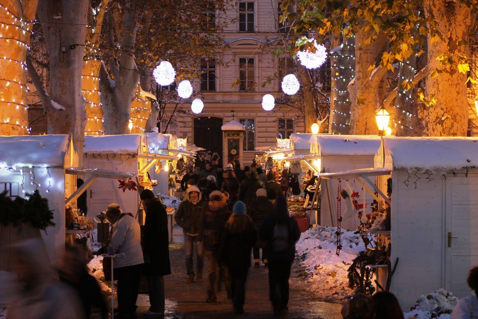 Advent Time On Zrinjevac Square In Zagreb Christmas Market Croatia Christmas