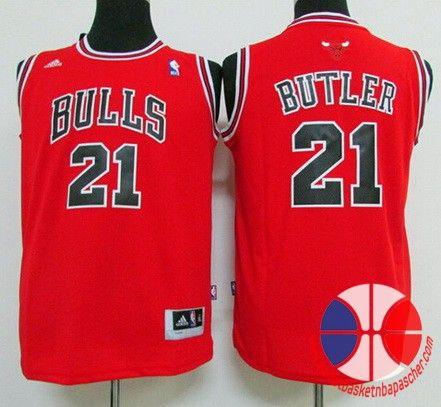 maillot basket nba enfant Chicago Bulls Butler  21 rouge nouveaux tissu  22 8983d4c425fd