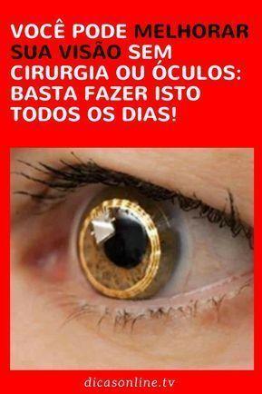 ba5858657 Você pode melhorar sua visão sem cirurgia ou óculos: basta fazer isto todos  os dias! | exercícios olhos | Visao, Saúde e Receitas