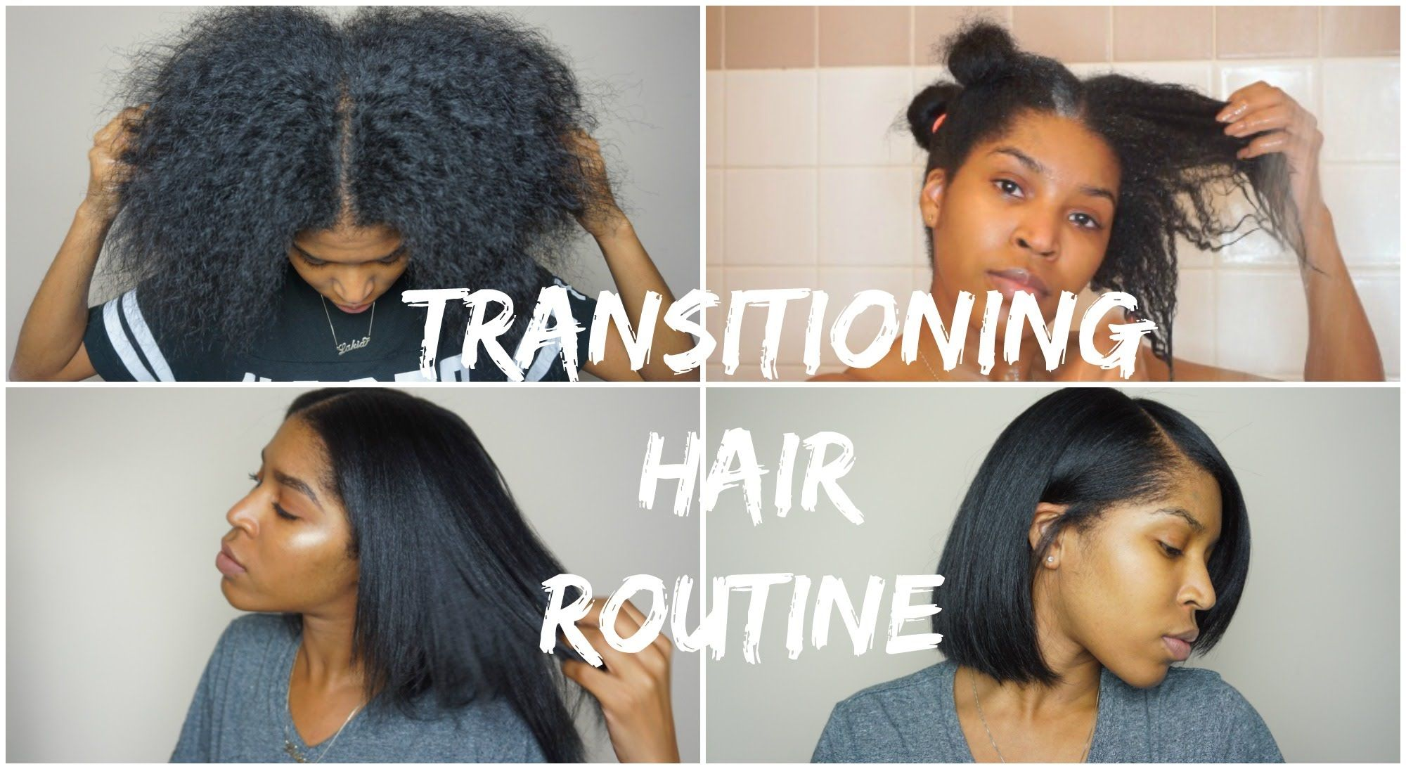 Transitioning Hair Wash Blow Dry Flat Iron 17 Months Post Rela Transitioning Hairstyles Hair Straightening Treatment Natural Hair Styles For Black Women